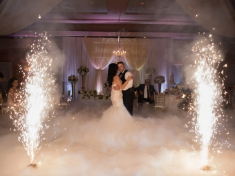 Ottawa indoor Fireworks For wedding Slow dance KRZ Productions