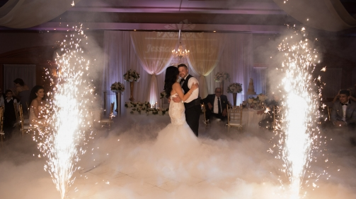 Ottawa indoor Fireworks For wedding Slow dance KRZ Productions